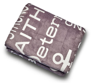 Bravery Inspirational Throw Blanket For Strength & Encouragement (Grey)