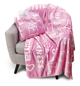 Mother Throw Blanket for Loving, Kind & Inspiring Moms (Pink)