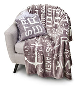 Bravery Inspirational Throw Blanket Strength & Encouragement (Grey)
