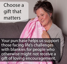 Load image into Gallery viewer, Faith Blanket The Perfect Caring Gift (pink)
