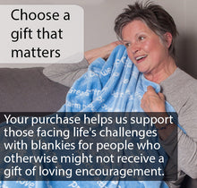 Load image into Gallery viewer, Healing Thoughts Blanket The Perfect Caring Gift (Blue)