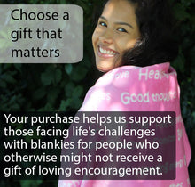 Load image into Gallery viewer, Healing Thoughts Blanket The Perfect Caring Gift (Pink)