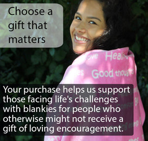 Healing Thoughts Blanket The Perfect Caring Gift (Pink)