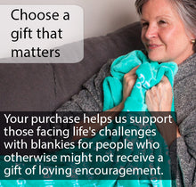 Load image into Gallery viewer, Healing Thoughts Blanket The Perfect Caring Gift (Teal)