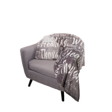 Load image into Gallery viewer, Healing Wishes Throw Blanket The Perfect Caring Gift (Grey)
