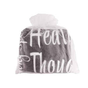 Healing Wishes Throw Blanket The Perfect Caring Gift (Grey)