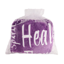 Load image into Gallery viewer, Healing Wishes Throw Blanket The Perfect Caring Gift (Purple)