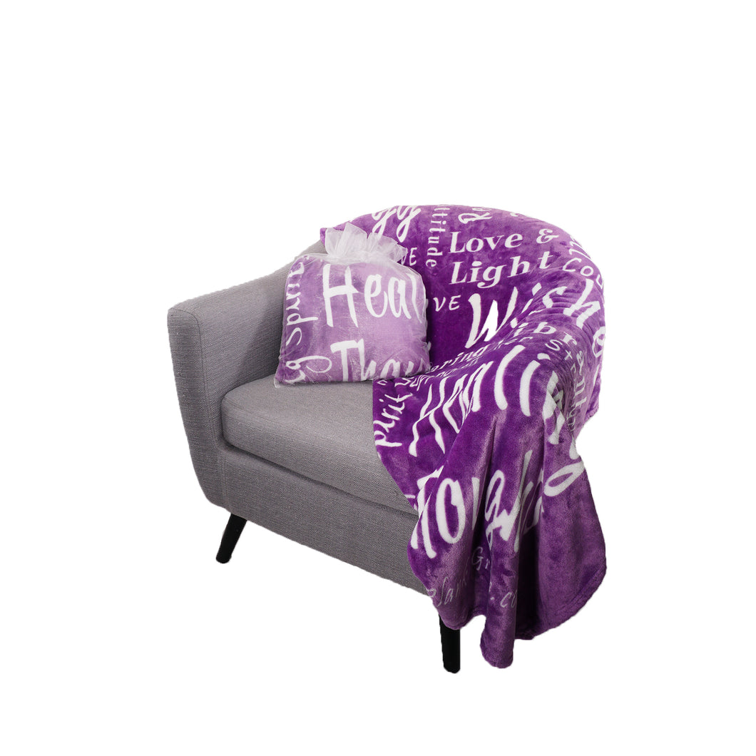 Healing Wishes Throw Blanket The Perfect Caring Gift (Purple)