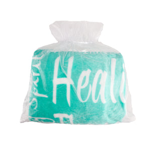 Healing Wishes Throw Blanket The Perfect Caring Gift (Teal)