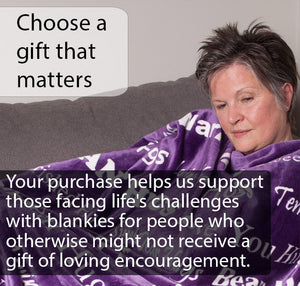 Hugs Blanket The Perfect Caring Gift (Purple)