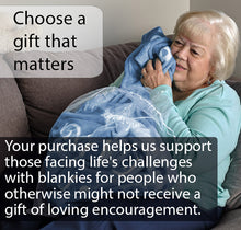 Load image into Gallery viewer, Mother Throw Blanket for Loving, Kind & Inspiring Moms (Blue)
