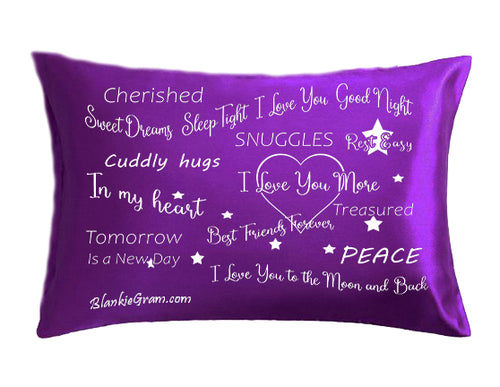 Say I Love You with This Satin Pillowcase The Perfect Caring Gift That says I Care for My Family, Best Friends and Sweethearts (Purple,Large)