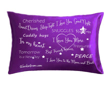 Load image into Gallery viewer, Say I Love You with This Satin Pillowcase The Perfect Caring Gift That says I Care for My Family, Best Friends and Sweethearts (Purple,Medium)