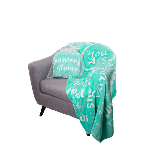 You Are Awesome Throw Blanket to Express Gratitude and Admiration (Teal)