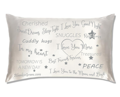 Say I Love You with This Satin Pillowcase The Perfect Caring Gift That says I Care for My Family, Best Friends and Sweethearts (Gray,Medium)