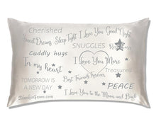 Load image into Gallery viewer, Say I Love You with This Satin Pillowcase The Perfect Caring Gift That says I Care for My Family, Best Friends and Sweethearts (Grey,Large)