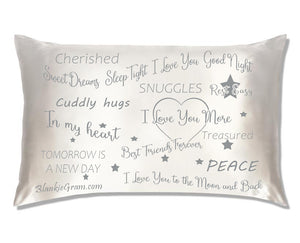 Say I Love You with This Satin Pillowcase The Perfect Caring Gift That says I Care for My Family, Best Friends and Sweethearts (Grey,Large)