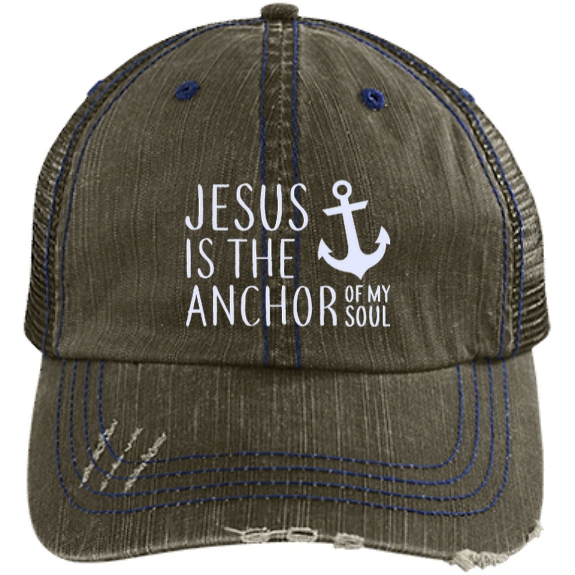 Jesus Is Anchor Of My Soul Trucker Hat – FaithAbove 672044af948d