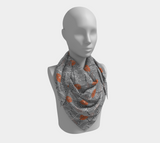 Tribal Marks  - Orange - Square Scarf