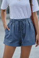 Blue Strive Pocketed Tencel Women Casual Shorts