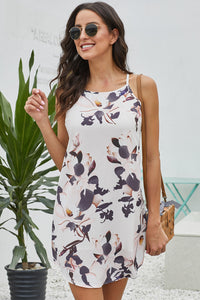 Modeset White Sleeveless Summer Floral Print Dress