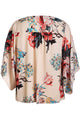 Fashion Rose V Neck Floral Kimono Top