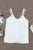 Chic White Adjustable Lace Straps Buttons Tank Top