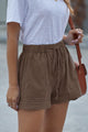 Women's Brown Strive Pocketed Tencel Shorts
