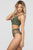 Army Green Sport Two-piece Mesh Patchwork High Waist Bikini