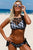 Black Lace High Neck Tankini Bathing Suits