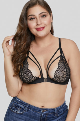 Black Lace Plus Size Bralette