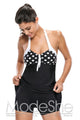 Black White Polka Dot One-piece Swimdress
