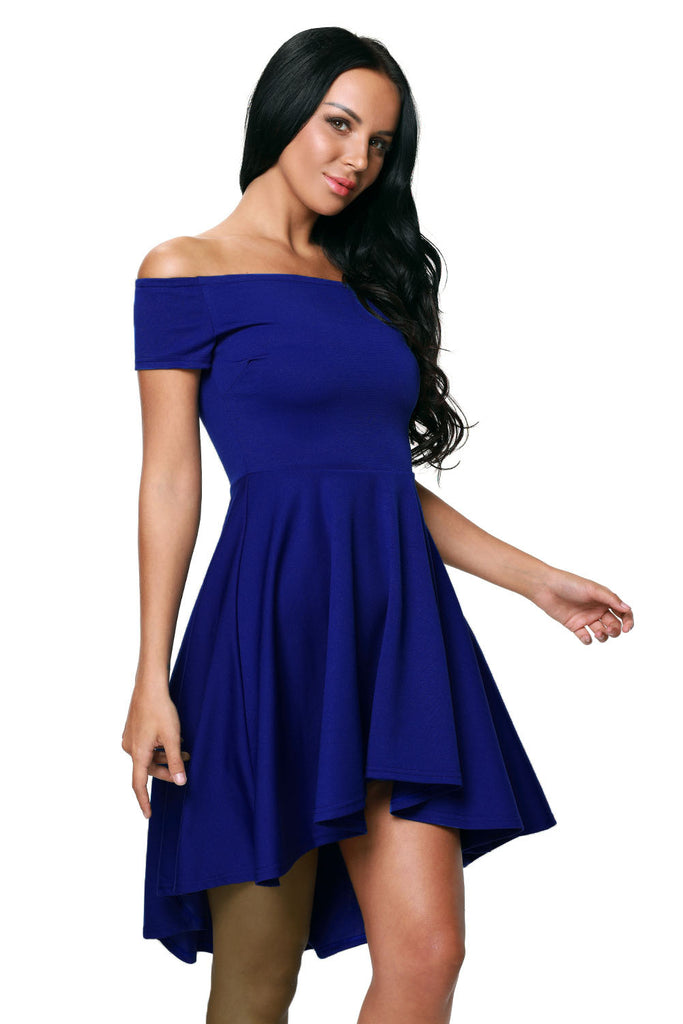 89daa99e369 Blue All The Rage Skater High Low Cocktail Dress MB61346-5 – ModeShe.com