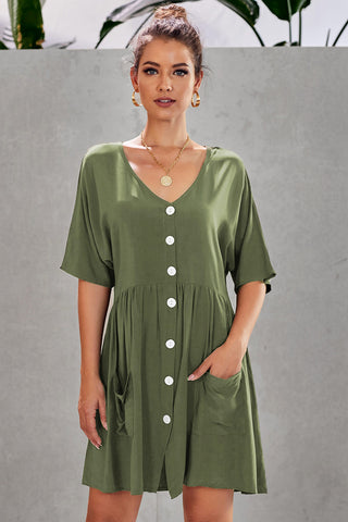 Casual Green Natural Beauty Dress
