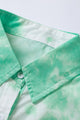 Classic Green Whirlwind Tie Dye Pocket Button Shirt