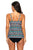 Ethnic Print Bandeau Flyaway Top & High Waist Tankini Set