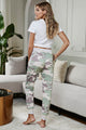 Fashion Camo Print Knit Sport Pants