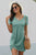 Green The Triblend Side Knot Short Sleeve T Shirt Dress