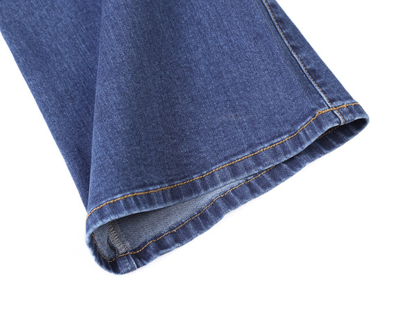 Womens Medium Blue Wash Vintage Wide Leg Jeans