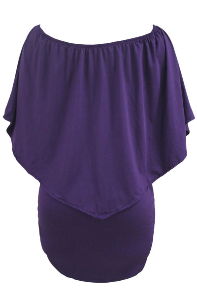 Multi-way Dressing Layered Purple Mini Dress