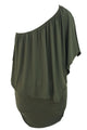 Mehrfach Dressing Layered Army Green Plus Size Minikleid