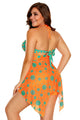 Orange Green Polka Dot Handkerchief 2pcs Tankini Set