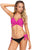 Rosy Wrap Front Halter Tie Side Bottom Bikini Set