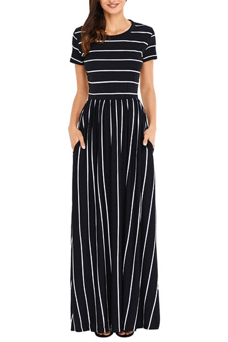 Buy HOTAPEI Women's Summer Casual Loose Striped Long Dress Short Sleeve Pocket Maxi Dress and other Dresses at ciproprescription.ga Our wide selection is elegible for free shipping and free returns.