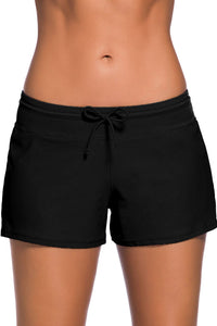 Women's Black Swim Boardshort