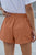 Summer Orange Strive Pocketed Tencel Shorts