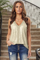 Chic Apricot Sequin Racerback Summer Tank Top