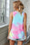 Women's Summer Multicolor Tie-dye Knit Tank