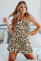 Summer Leopard Print Tank Top and Shorts Lounge Set