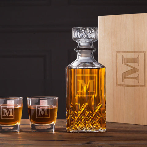 Personalized Groomsmen Gifts Scotch Decanter Set